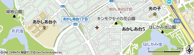 兵庫県三田市あかしあ台周辺の地図
