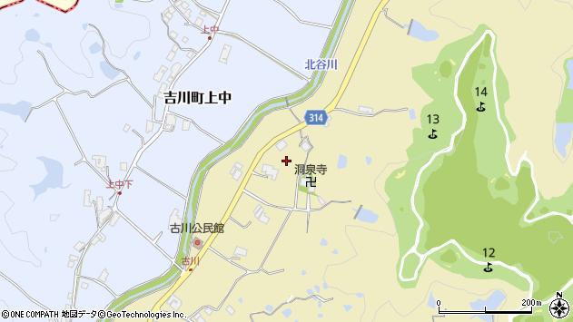 〒673-1105 兵庫県三木市吉川町古川の地図