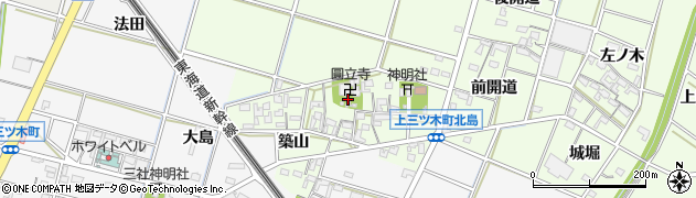 愛知県岡崎市上三ツ木町周辺の地図