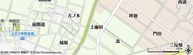 愛知県岡崎市中村町(上向田)周辺の地図
