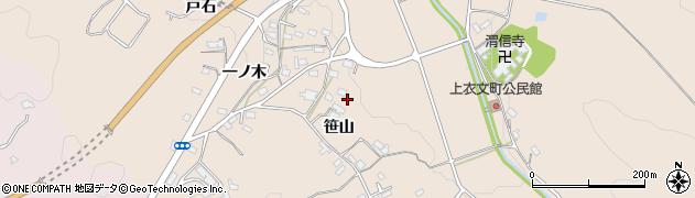 愛知県岡崎市上衣文町(笹山)周辺の地図