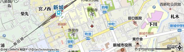 愛知県新城市町並周辺の地図