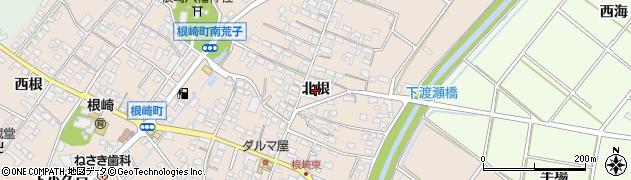 愛知県安城市根崎町(北根)周辺の地図