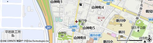 愛知県碧南市山神町周辺の地図