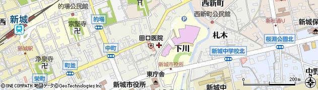あずまや周辺の地図