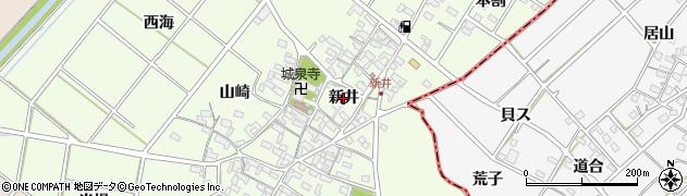 愛知県安城市城ケ入町(新井)周辺の地図