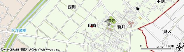 愛知県安城市城ケ入町(山崎)周辺の地図