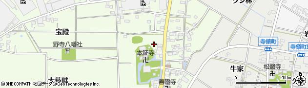 愛知県安城市野寺町(野寺)周辺の地図
