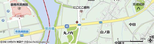 愛知県安城市東端町(毘沙田)周辺の地図