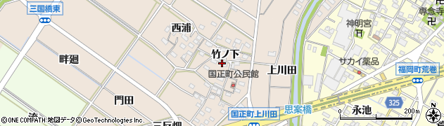 愛知県岡崎市国正町周辺の地図