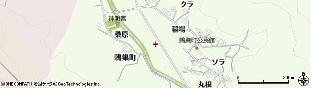 愛知県岡崎市鶇巣町(大井田)周辺の地図