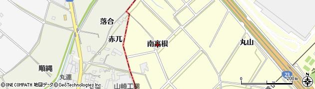 愛知県安城市藤井町(南高根)周辺の地図