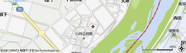 愛知県安城市小川町(小向)周辺の地図