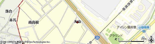 愛知県安城市藤井町(丸山)周辺の地図
