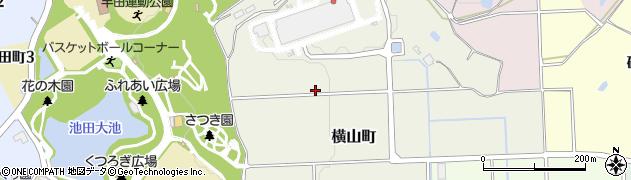 愛知県半田市横山町周辺の地図
