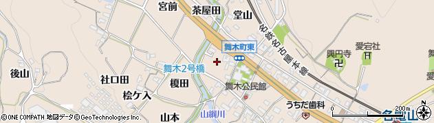 愛知県岡崎市舞木町(中後)周辺の地図
