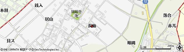 愛知県西尾市南中根町(長仙)周辺の地図