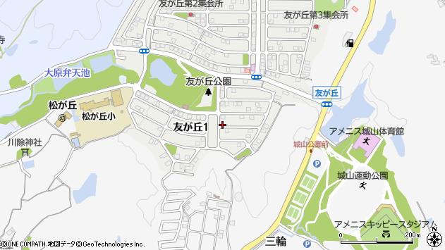 〒669-1516 兵庫県三田市友が丘の地図