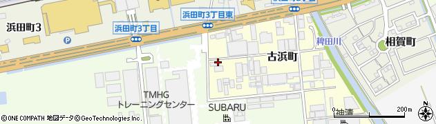 愛知県半田市古浜町周辺の地図