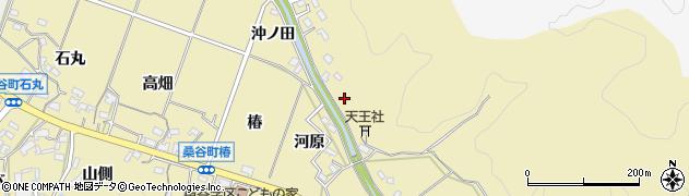 愛知県岡崎市桑谷町(岩鼻)周辺の地図