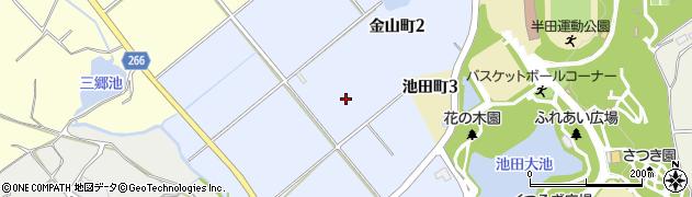 愛知県半田市金山町周辺の地図