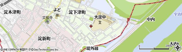 京都府京都市伏見区淀下津町周辺の地図