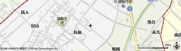 愛知県西尾市南中根町周辺の地図