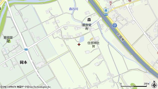 〒673-1322 兵庫県加東市森の地図