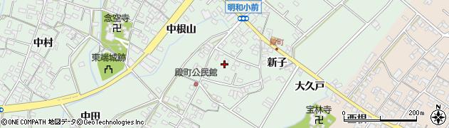 愛知県安城市東端町(向山)周辺の地図