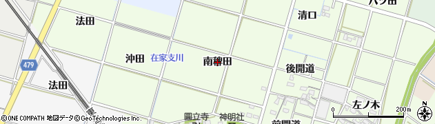 愛知県岡崎市上三ツ木町(南稗田)周辺の地図
