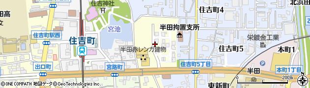 愛知県半田市榎下町周辺の地図