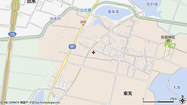 〒673-1434 兵庫県加東市東実の地図