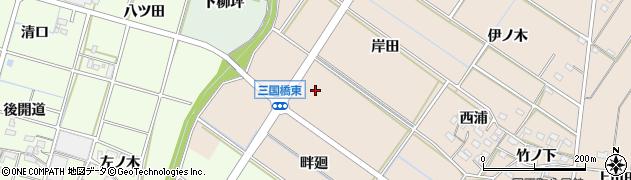 愛知県岡崎市国正町(花ノ木)周辺の地図