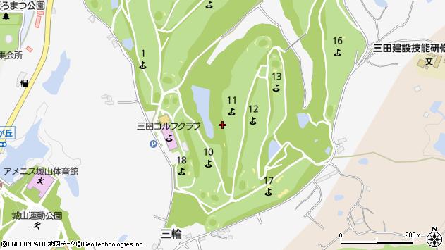 〒669-1513 兵庫県三田市三輪の地図