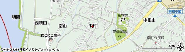 愛知県安城市東端町(中村)周辺の地図