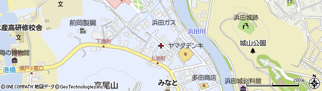 島根県浜田市港町周辺の地図
