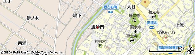 愛知県岡崎市福岡町(毘沙門)周辺の地図