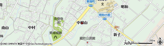 愛知県安城市東端町(中根山)周辺の地図