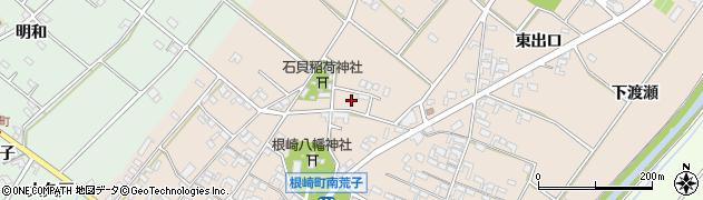 愛知県安城市根崎町(南荒子)周辺の地図