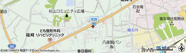 どんどん新城店周辺の地図