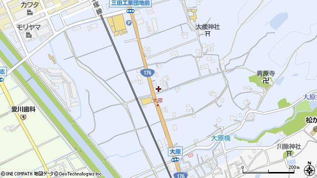 〒669-1515 兵庫県三田市大原の地図