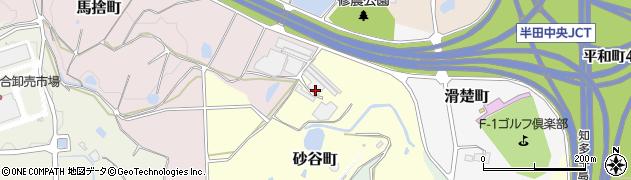 愛知県半田市砂谷町周辺の地図