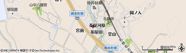 愛知県岡崎市舞木町(茶屋河原)周辺の地図