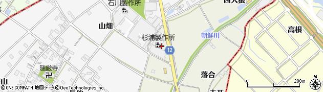 愛知県西尾市米津町(上泡原)周辺の地図