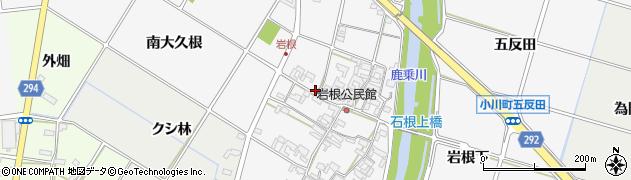 愛知県安城市小川町(岩根)周辺の地図