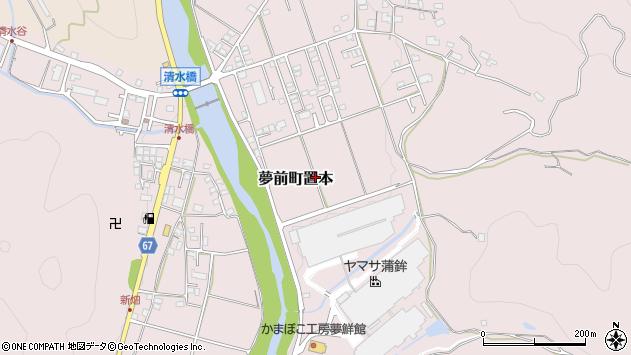 〒671-2122 兵庫県姫路市夢前町置本の地図