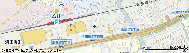 愛知県半田市浜田町周辺の地図