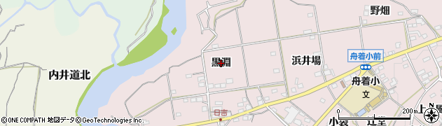 愛知県新城市日吉(黒淵)周辺の地図