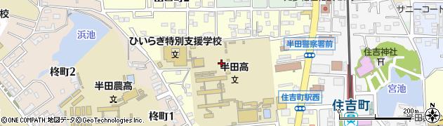 愛知県半田市出口町周辺の地図
