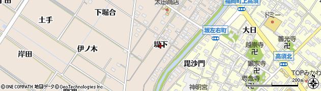 愛知県岡崎市坂左右町(堤下)周辺の地図